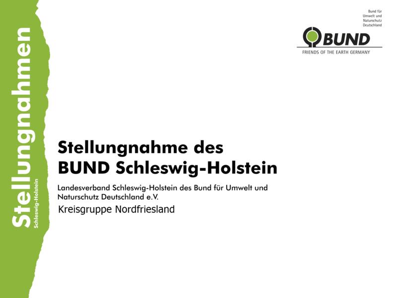 Bild: Stellungnahme des BUND Nordfriesland